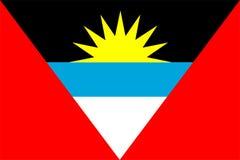 Bandierina dell'Antigua e di Barbuda Fotografia Stock
