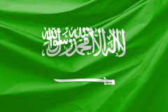 Bandierina dell'Arabia Saudita Immagine Stock