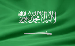 Bandierina dell'Arabia Saudita Fotografie Stock