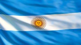 Bandierina dell'Argentina Bandiera d'ondeggiamento dell'illustrazione dell'Argentina 3d illustrazione vettoriale