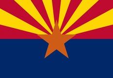 Bandierina dell'Arizona illustrazione di stock