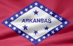 Bandierina dell'Arkansas Fotografie Stock