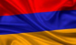 Bandierina dell'Armenia Fotografia Stock Libera da Diritti