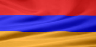 Bandierina dell'Armenia Fotografia Stock