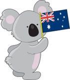 Bandierina dell'australiano del Koala Fotografie Stock
