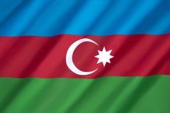 Bandierina dell'Azerbaijan Immagine Stock