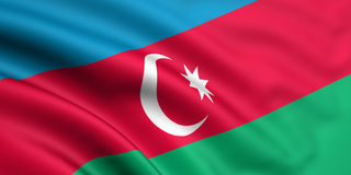 Bandierina dell'Azerbaijan Fotografia Stock Libera da Diritti