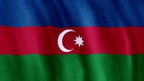 Bandierina dell'Azerbaijan video d archivio
