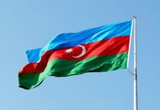 Bandierina dell'Azerbaijan Fotografia Stock