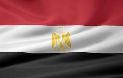 Bandierina dell'Egitto Immagine Stock