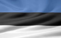Bandierina dell'Estonia Immagini Stock Libere da Diritti