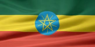 Bandierina dell'Etiopia Immagini Stock