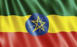 Bandierina dell'Etiopia Immagine Stock Libera da Diritti