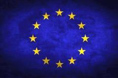 Bandierina dell'europeo di Grunge Immagine Stock Libera da Diritti