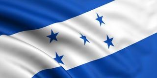 Bandierina dell'Honduras Fotografie Stock Libere da Diritti