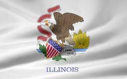 Bandierina dell'Illinois Immagine Stock