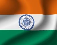Bandierina dell'India Fotografia Stock Libera da Diritti
