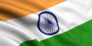 Bandierina dell'India Immagini Stock