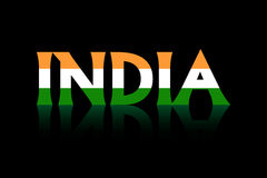 Bandierina dell'India Immagine Stock Libera da Diritti