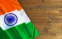Bandierina dell'India 15 agosto festa dell'indipendenza della Repubblica Indiana Fotografie Stock