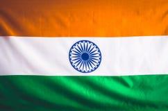 Bandierina dell'India 15 agosto festa dell'indipendenza della Repubblica della I Fotografia Stock Libera da Diritti