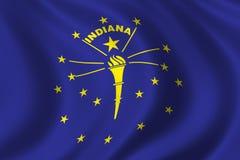 Bandierina dell'Indiana Immagini Stock