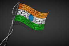 Bandierina dell'indiano di tipografia illustrazione di stock