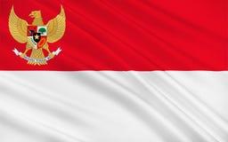 Bandierina dell'Indonesia royalty illustrazione gratis