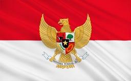 Bandierina dell'Indonesia illustrazione vettoriale