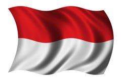 Bandierina dell'Indonesia Immagini Stock Libere da Diritti
