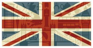 Bandierina dell'Inghilterra Immagini Stock