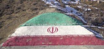 Bandierina dell'Iran Fotografie Stock