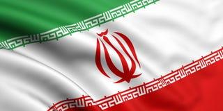 Bandierina dell'Iran Fotografia Stock