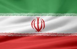 Bandierina dell'Iran Fotografia Stock Libera da Diritti
