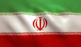 Bandierina dell'Iran immagine stock libera da diritti