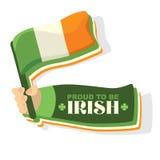 Bandierina dell'Irlanda Fotografia Stock