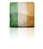 Bandierina dell'Irlanda Immagini Stock