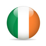 Bandierina dell'Irlanda Illustrazione di vettore Fotografia Stock Libera da Diritti
