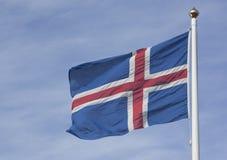 Bandierina dell'Islanda Fotografie Stock Libere da Diritti