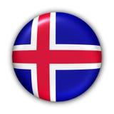 Bandierina dell'Islanda illustrazione di stock