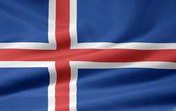 Bandierina dell'Islanda Immagini Stock