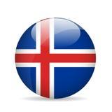 Bandierina dell'Islanda Illustrazione di vettore Immagine Stock Libera da Diritti