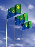 Bandierina dell'isola di natale Immagine Stock Libera da Diritti