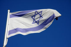 Bandierina dell'Israele fotografia stock