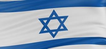 bandierina dell'israeliano 3D Immagini Stock Libere da Diritti