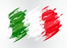 Bandierina dell'Italia dissipata fotografia stock libera da diritti