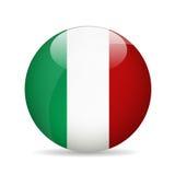 Bandierina dell'Italia Illustrazione di vettore Fotografia Stock