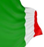 bandierina dell'italiano 3D Immagine Stock Libera da Diritti