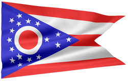 Bandierina dell'Ohio Fotografia Stock