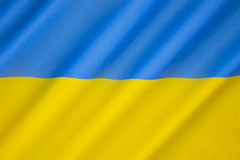 Bandierina dell'Ucraina Fotografie Stock